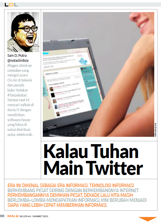 LOL Column - Male Magazine - edition 019