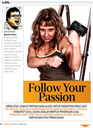 LOL Column - Male Magazine - edition 023