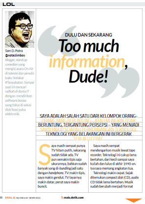 LOL Column - Male Magazine - edition 030