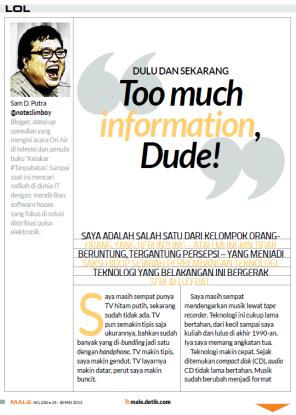 LOL Column - Male Magazine - edition 030