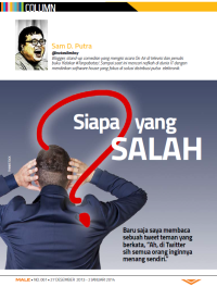LOL Column - Male Magazine - edition 061
